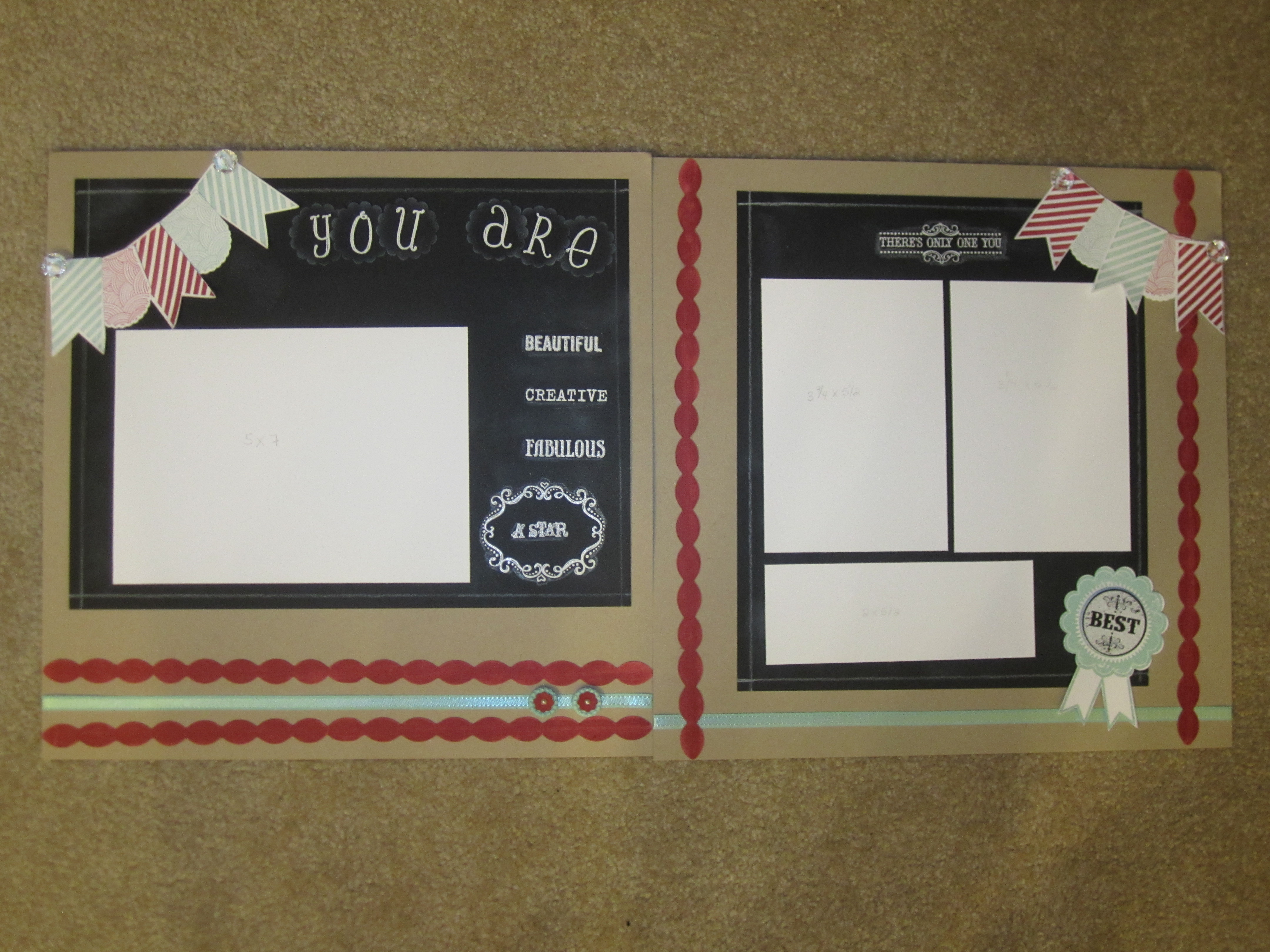 Stamping With Rose Scrapbook Pages